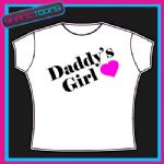 DADDY'S GIRL LADIES GIRLS TSHIRT ALL SIZES